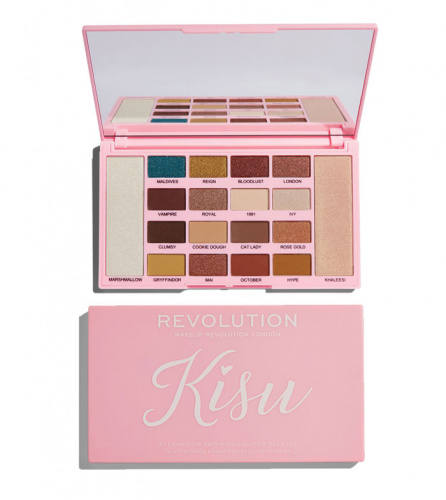 Палетка Makeup Revolution X Kisu Eyeshadow & Highlighter Palette