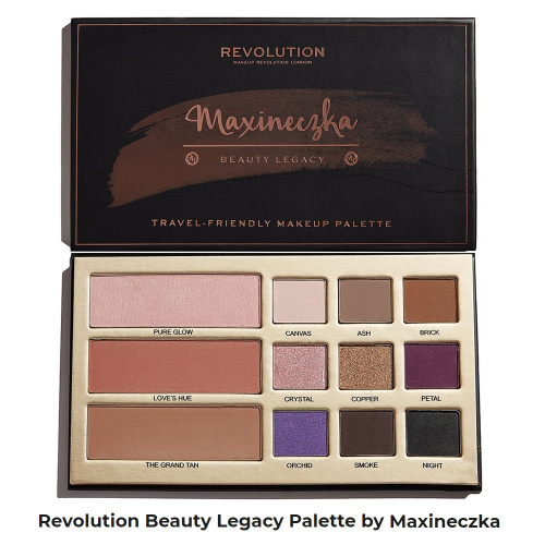 Палетка Makeup Revolution Beauty Legacy Palette by Maxineczka