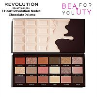 Палетка теней Makeup Revolution Nudes Chocolate