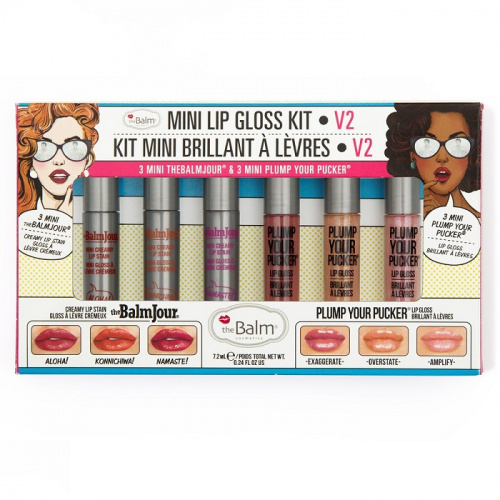 Набор блесков theBalm Mini Lip Gloss Kit Vol.2