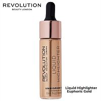 Жидкий хайлайтер Makeup Revolution Liquid Highlighter Euphoric Gold