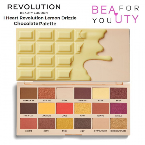 Палетка теней Makeup Revolution Lemon Drizzle Chocolate