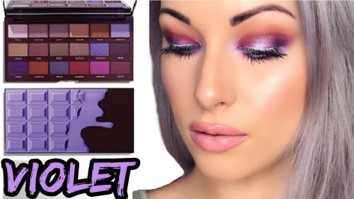 Палетка теней Makeup Revolution Revolution Violet Chocolate Palette фото 11