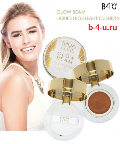 Жидкий хайлайтер кушон MUA Luxe Glow Beam Liquid Highlight Cushion - Gold фото 7