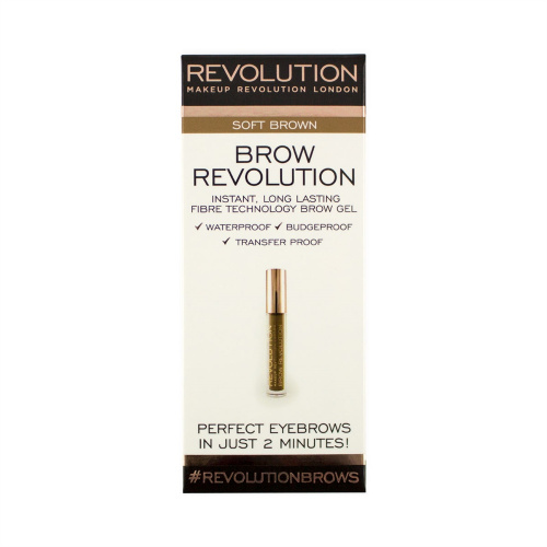 Гель для бровей Makeup Revolution Brow Revolution Soft Brown фото 4
